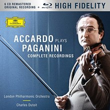 Salvatore Accardo - Accardo Plays Paganini: The Complete Recordings (6CD + Blu-Ray) CDEU6683
