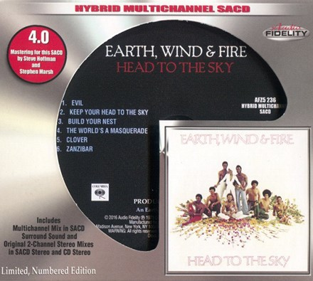 Earth, Wind and Fire - Head To The Sky (4.0 Quad Multichannel Hybrid SACD) CAUDSA236